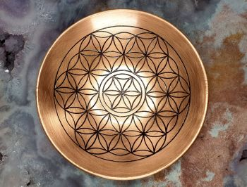 Copper Flower of Life Dish