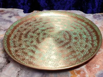 Rose Gold Finish Altar/Ritual Plate - Large