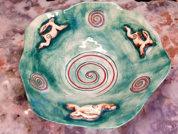 Large Hare Altar/Offering Bowl