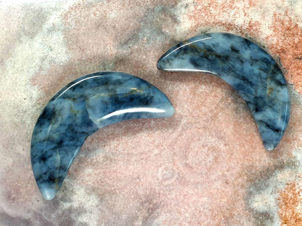 Blue Opal Small Moon