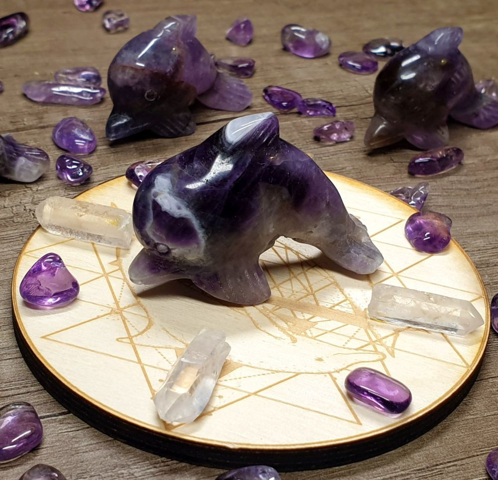 Sea Magick - Amethyst Dolphin and Grid Board