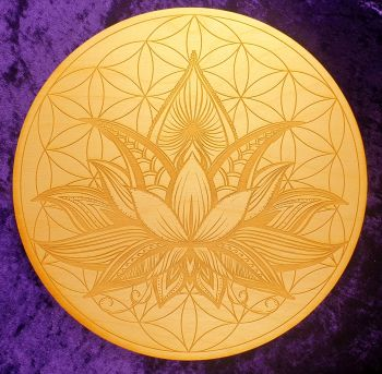 Lotus Flower Of Life Crystal Grid Board 10 inch