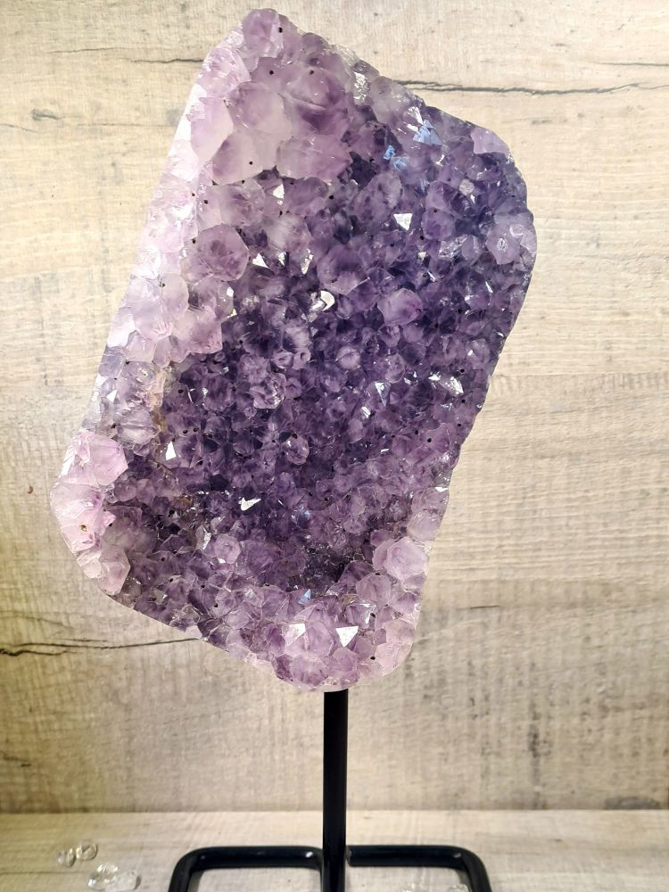 Amethyst Bed with Removable Stand for Relaxation and Spiritual Advancement