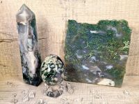 Immerse Yourself in Gaia - Green Moss Agate Set 3