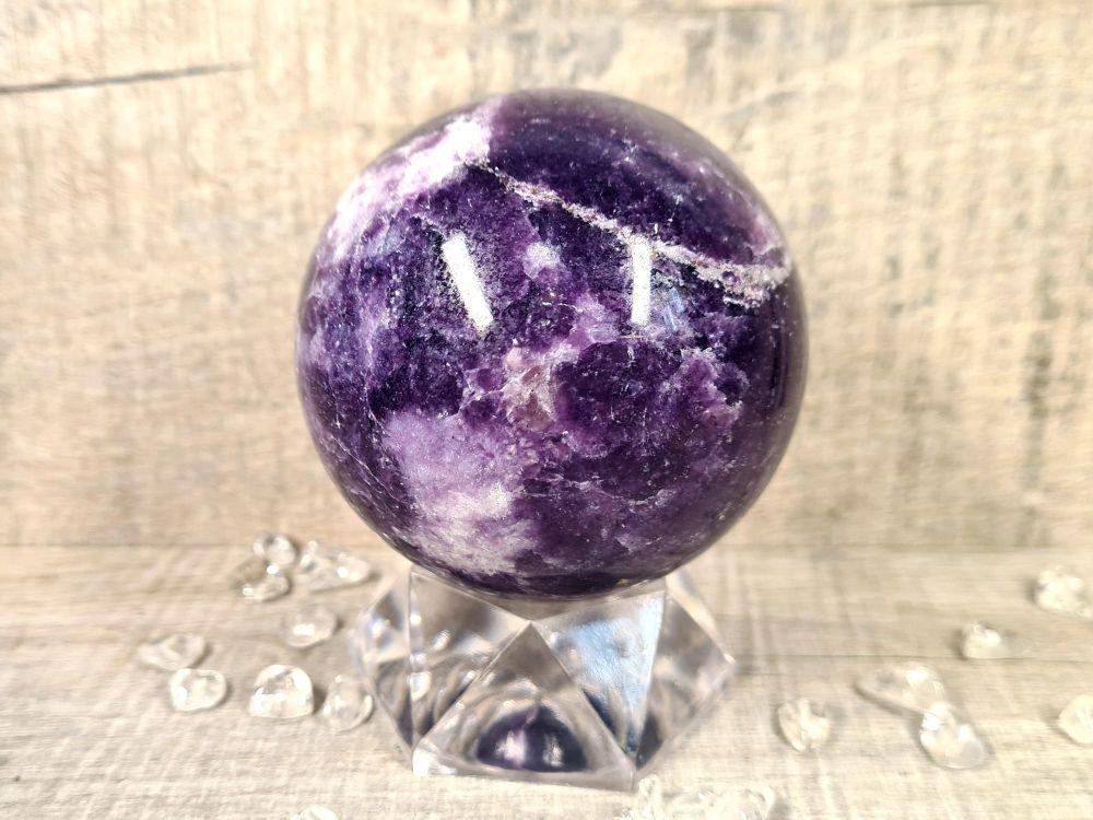 Lepidolite Sphere 3