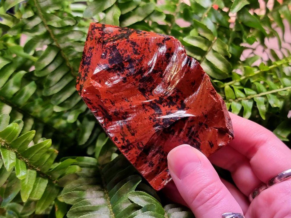 Mahogany Obsidian Part Polished Point 2