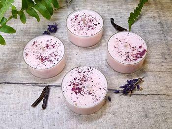 Full Moon Organic Soy Wax Tealights - Set of 4