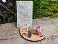 Card of the Day Crescent Moon Card and Candle Holder