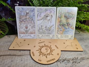 Written in the Stars Tarot Card Stand and Pendulum Board