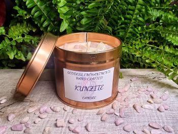 Kunzite - Crystal Candle