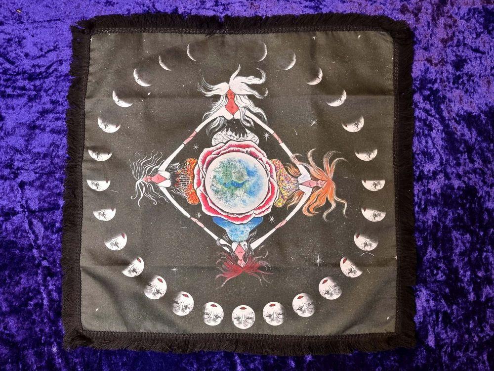 Four Seasons Earth Healing Altar Cloth - 45cm Square