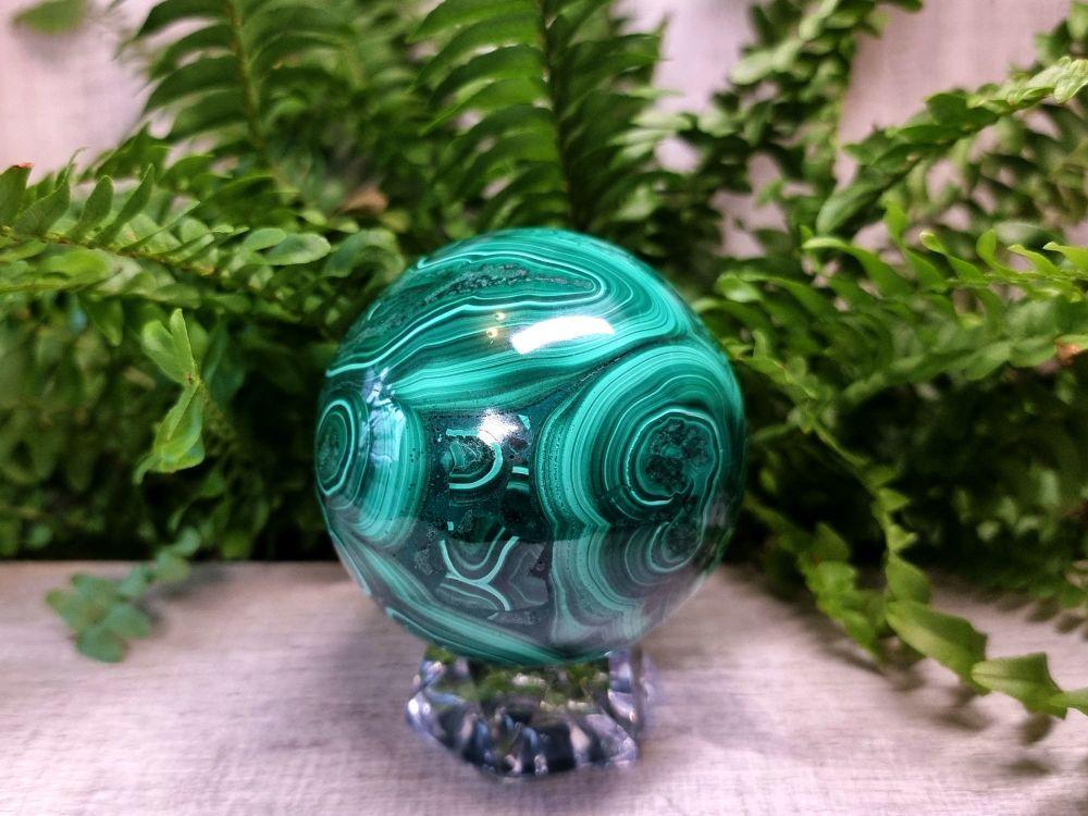 Malachite Sphere 1