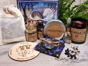 * Samhain Ancestral Healing and Witches New Year Ritual Kit with Guided Journey *