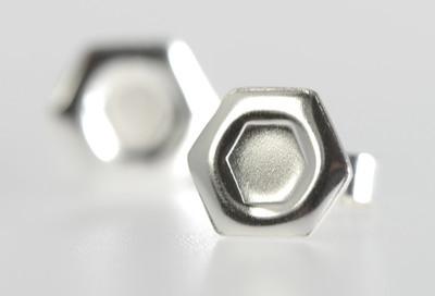 Whispers...Hexagon Earrings