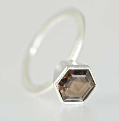 Hexagon Collet Ring