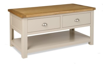 Stratton Stone Coffee Table with Drawers