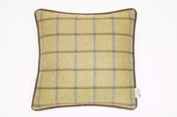 Country Green - Check Square Cushion