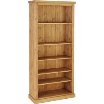 Tuscany Bookcase 6ft Antique Wax Finish