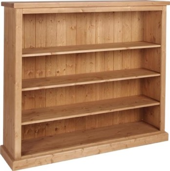 Tuscany Bookcase Wide 4ft Tall Wax Finish