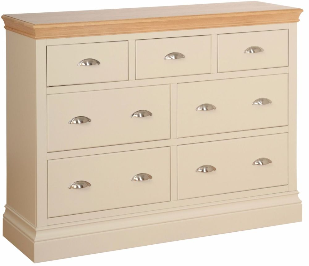 Lundel Chest 3 over 4 Jumper Drawers Ivory Oak