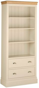 Amelia Bookcase 6ft with Drawers Truffle & Oak