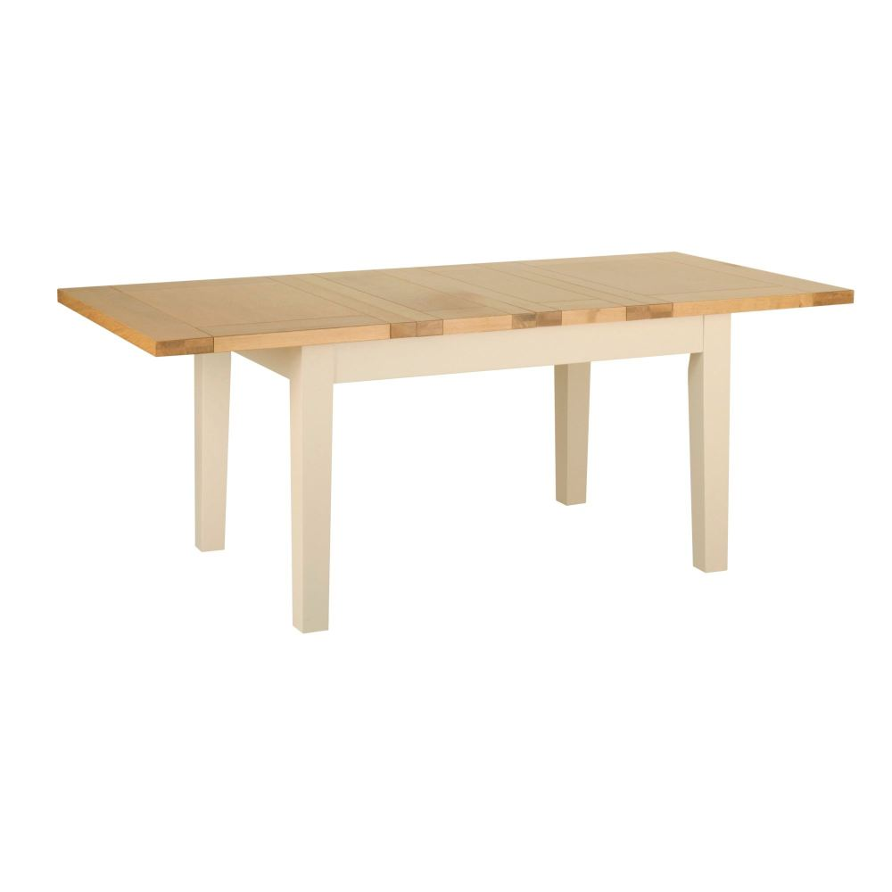 Lundel Dining Table Extending ivory oak pictured closed Dimensions (W) 915m