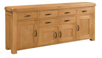 Rothes Oak Sideboard Large 4 Doors 6 Drawers