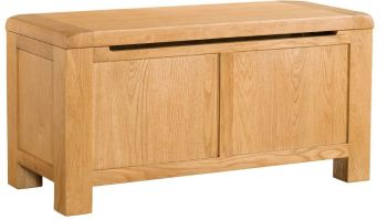 Nova Oak Blanket Box