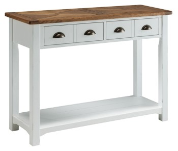 Catrine Elm & Painted Console Table