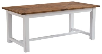 Catrine Elm & Painted Extending Dining Table Trestle