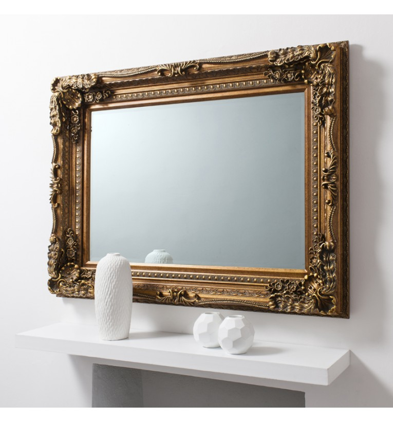 Carved Louis Mirror 47x35.5