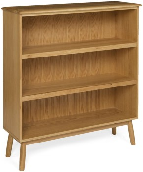 Flow Oak Bookcase Wide