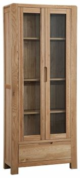 Kimi Oak Display Cabinet