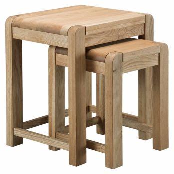 Kimi Oak Coffee Nest of Tables