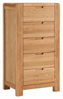 Kimi Oak Chest of Drawer Wellington