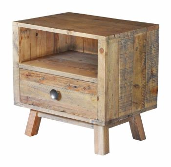 Stanwick Bedside 1 Drawer Reclaimed Timber