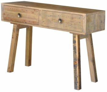 Stanwick Dressing Table 2 Drawer Console Table Reclaimed