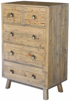 Stanwick Chest 2 over 3 Chest Reclaimed Timber