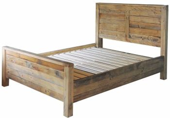 Stanwick Bed Kingsize Bed Frame Reclaimed Timber