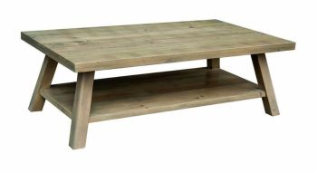 Stanwick Coffee Table with Shelf  Reclaimed Timber