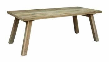 Stanwick Fixed Top Dining Table Reclaimed Timber