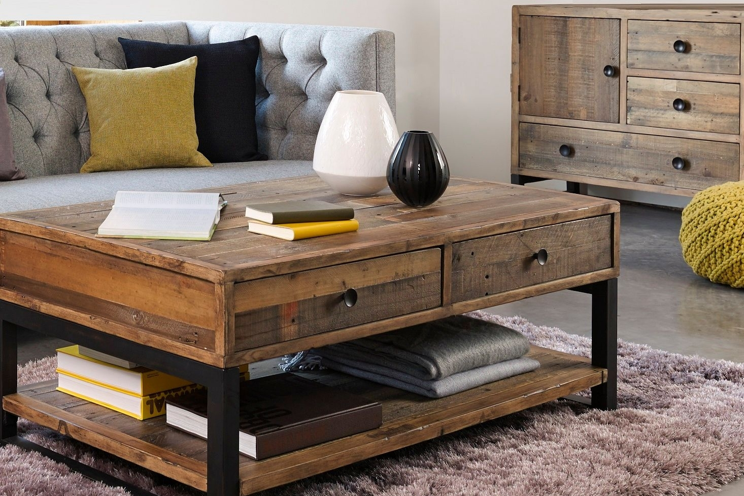 Reclaimed wood living room furniture for Wood living room furniture