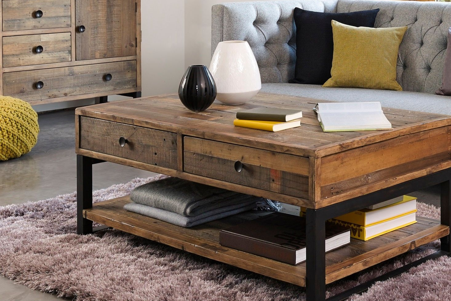 Retro Living Solid Reclaimed Wood