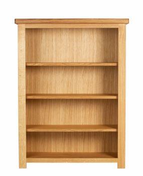 Lorient Oak Bookcase Short Wide