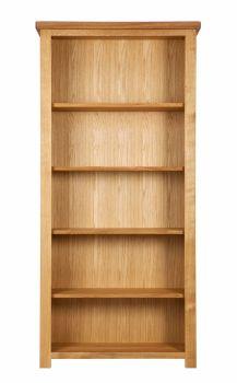Lorient Oak Bookcase Tall & Wide