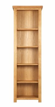 Lorient Oak Bookcase Tall and Narrow