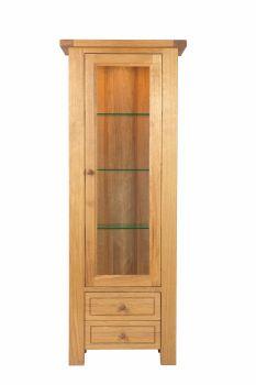 Lorient Oak Corner Glazed Display Cabinet