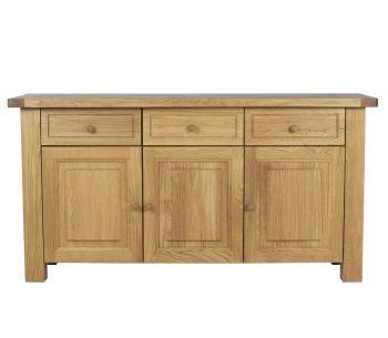 Lorient Oak Sideboard 3 Drawer Oak