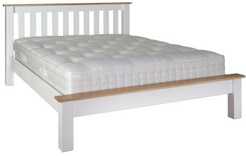 Silverton Oak Top Painted White Bed King size Frame