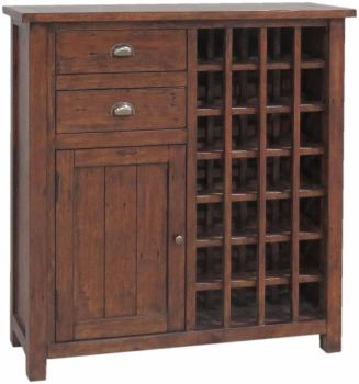 Forest Reclaimed Cupboard 24 Bottle Wine Cabinet